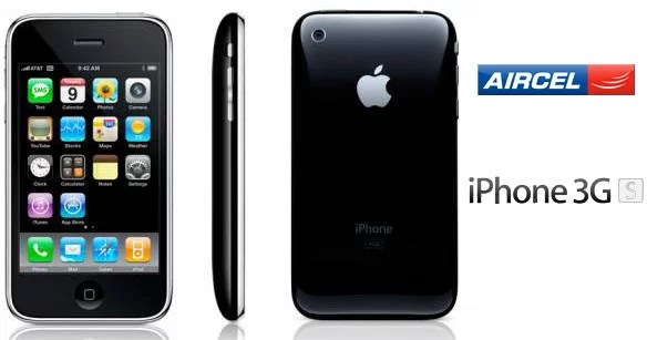iPhone 3GS from Aircel at Rs 9,999
