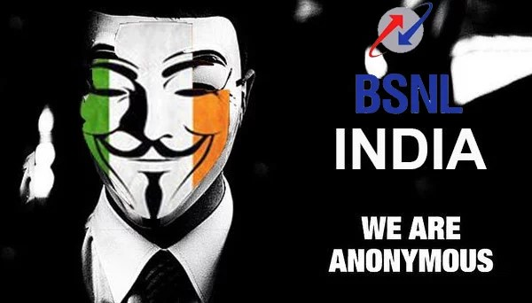 BSNL Website got Hacked by Anonymous India, Sensitive information Exposed