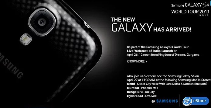 Samsung Galaxy S4 Launched in India for Rs 41,500, Order Online at Samsung India eStore