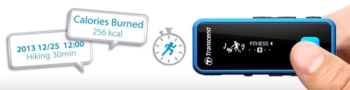 Transcend MP350 Digital Music Player with Fitness Tracker and Voice Recorder