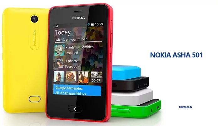 Nokia unveiled Asha 501 - Innovative Swipe UI, Long Battery Life, Free Facebook Access for $99