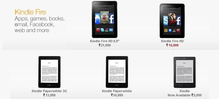 Amazon Kindle Devices