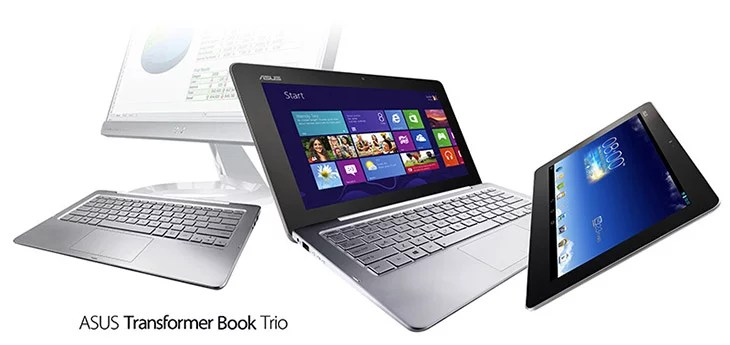 ASUS unveils Transformer Book Trio with Dual Intel CPU, Dual Storage, runs Android and Windows 8