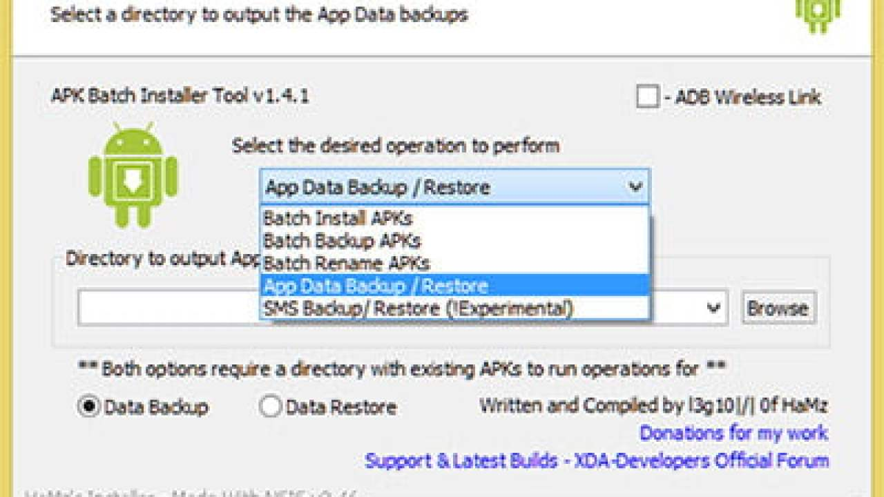 Backup and Restore Android Apps with Data and SMS directly