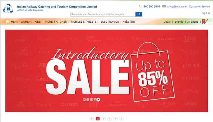 IRCTC opens Online Shopping Store in Partnership with Yebhi