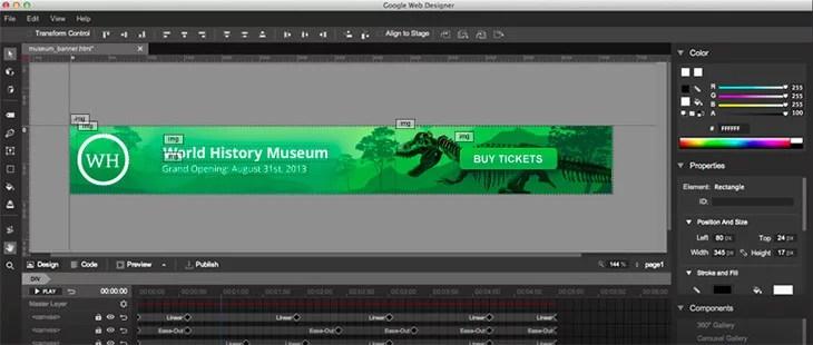 Google unveils design tool 'Web Designer' - Create stunning HTML5 Websites and Ads