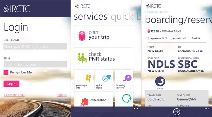 IRCTC partners with Microsoft to launch App for Windows Phone and Windows 8 Devices