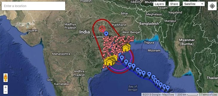 Track Online the Tropical Cyclone Phailin and Get Helpful Information