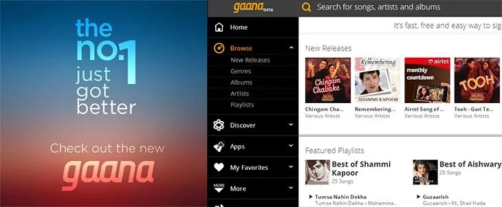 Gaana gets Refreshing new Design and advanced Music Experience