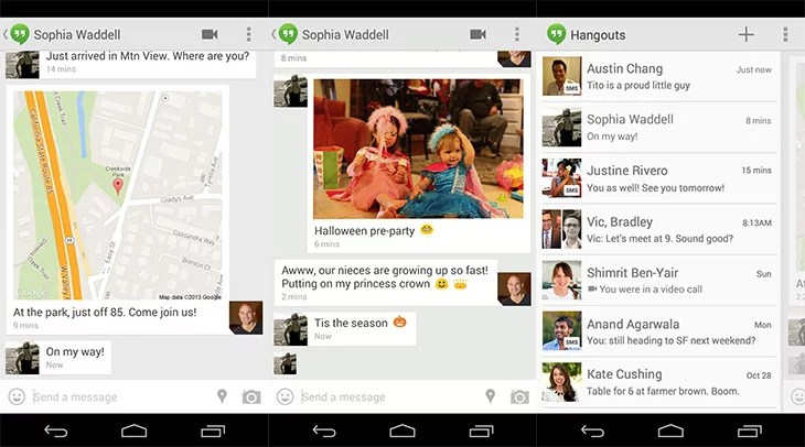 Google Hangouts gets SMS integration and Other Enhancements