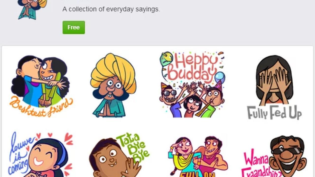 Little bit Desi on Facebook Messenger with Chumbak stickers