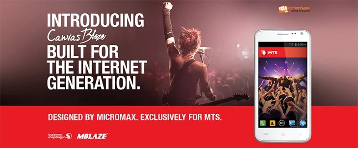 Micromax unveils Canvas Blaze Exclusive for MTS India - 5 inch Display, 3G EVDO + GSM