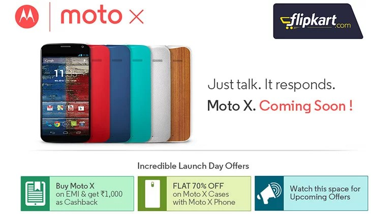 Moto X around the Corner - Flipkart to offer Cashback, Flat 70% OFF on Cases & more