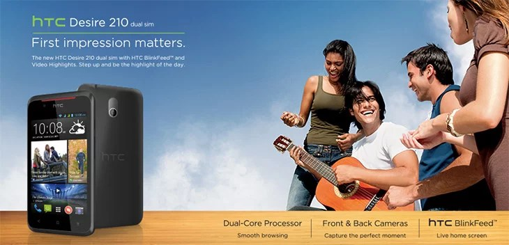 HTC unveils budget-friendly Desire 210 with Dual-Core, Dual-SIM at Rs 8,700