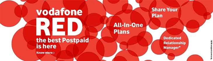 Vodafone RED - New Postpaid Plans with 6 Unique Benefits