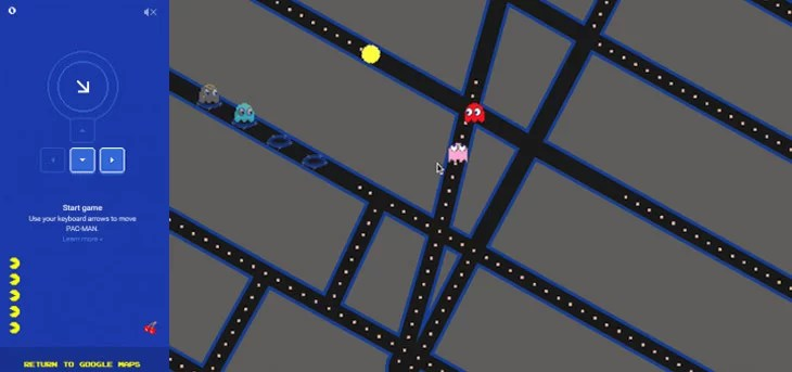 Pac-Man comes to your City Streets with Google Maps April Fool Prank