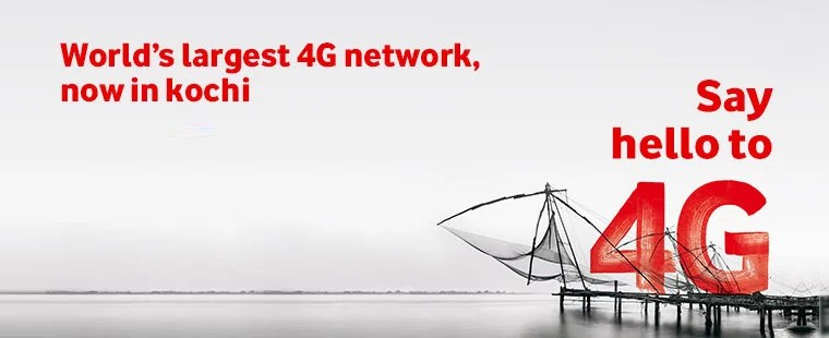 Vodafone India officially rolls out 4G network in India, starts with Kochi