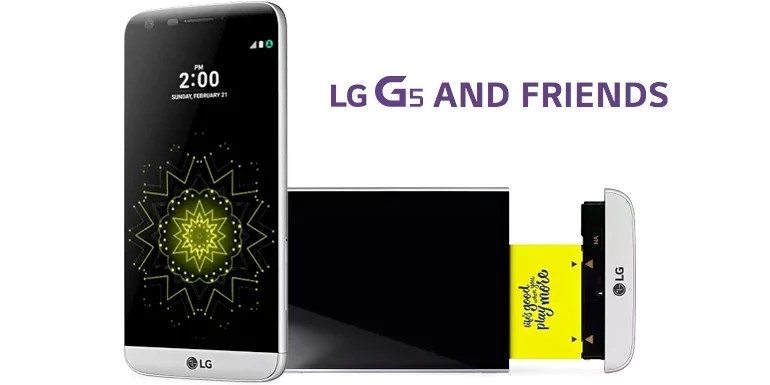 LG G5 smartphones launched with Friends
