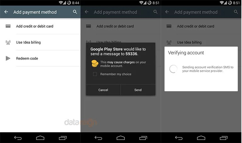 Google adds Carrier Billing on Google Play Store India, Idea Cellular users get it First