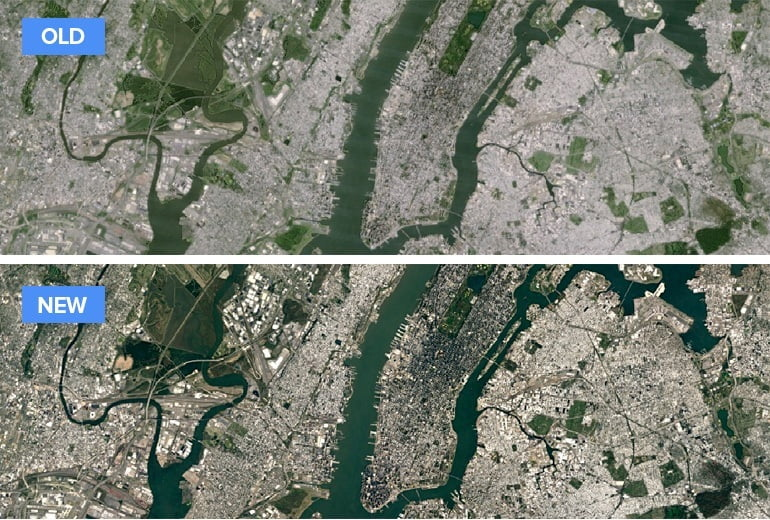 Google Maps & Google Earth images now sharper and higher Quality