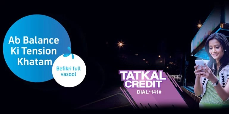 Telenor Tatkal Credit Service - an emergency Talk time & Data loan facility