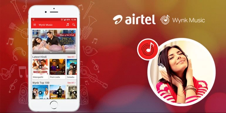 Airtel Wynk Music app crosses 25 million downloads, Now plays over 15 million songs a day