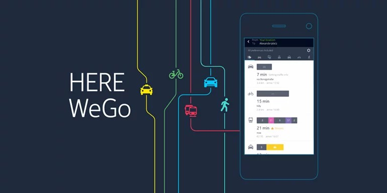 HERE Maps app gets a name change to HERE WeGo