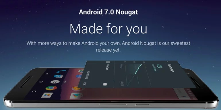 Android 7.0 Nougat Released, started rolling out for Nexus devices