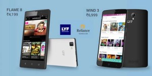 LYF Wind 3 & LYF Flame 8 with 4G VoLTE launched exclusively via Flipkart