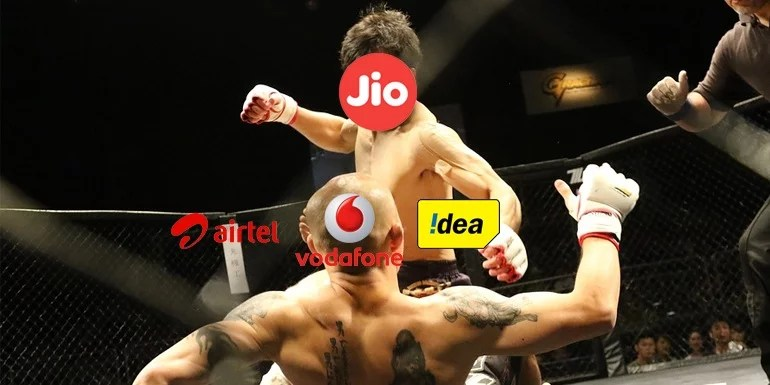 Reliance Jio comes down heavy on top three Operators, 10 crore call failures per day