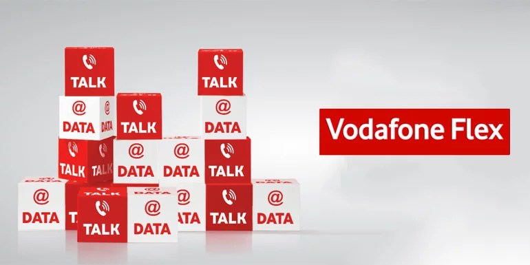 Vodafone FLEX - One recharge for Voice, Data, SMS & Roaming [Prepaid]