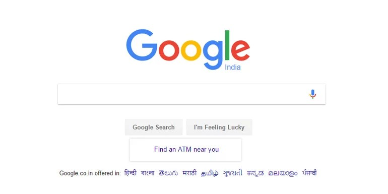 Now find ATMs near you, right on Google India search