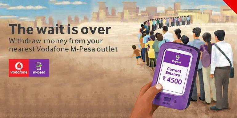 Now digitally load your Vodafone M-Pesa Wallet & Withdraw cash from over 120,000 Outlets