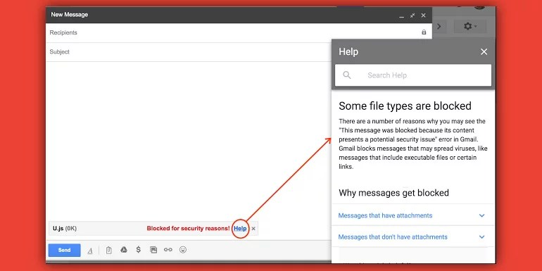 Gmail to block JavaScript (JS) file attachments in emails