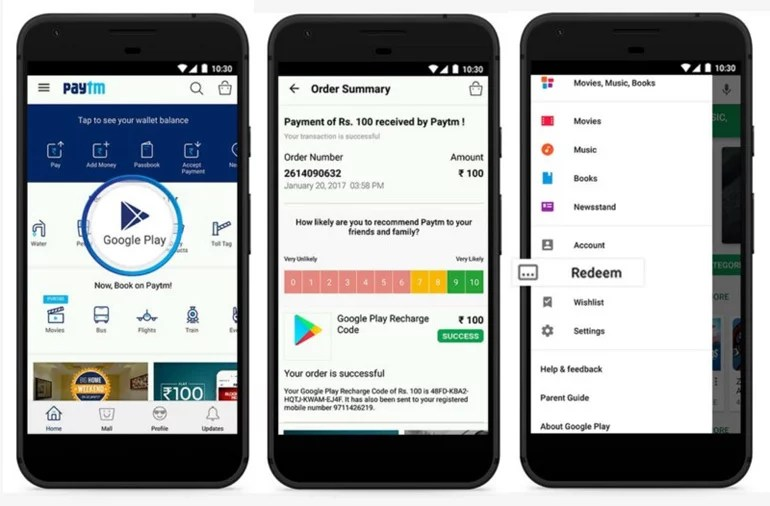 Google Play Credit Recharge now available with Paytm and