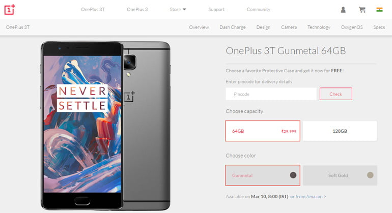 OnePlus start selling smartphones via OnePlus India Store