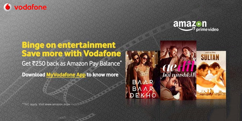 Vodafone India Subscribers to Get Special Cashback on Amazon Prime Video membership