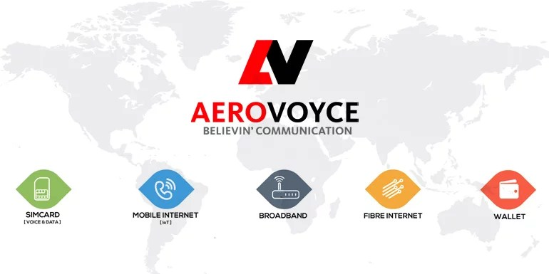 Aerovoyce rolls out MVNO Operation in India - starts with International SIM and Fiber Broadband