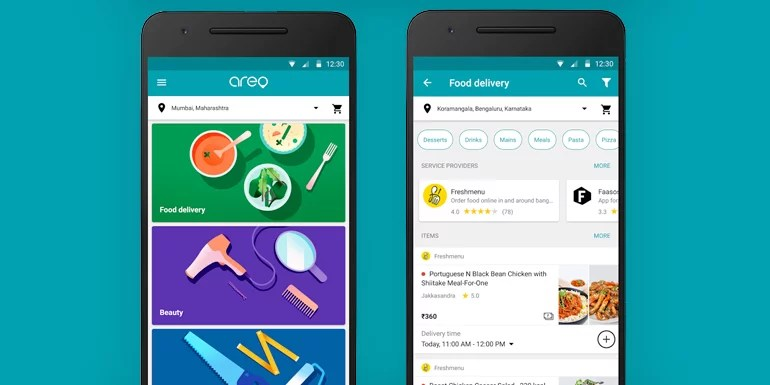 Google launches Areo App for Food Delivery and Home Services in India
