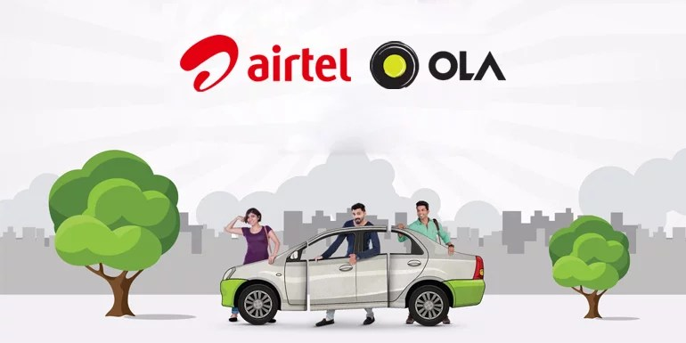 Airtel and Ola partnership to bring each other's digital services to customers