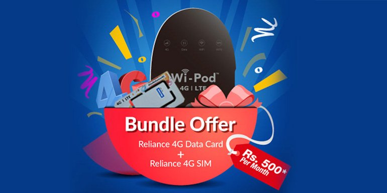 RCom launches bundled offer - 4G Wi-Pod and 1GB data per day for 365