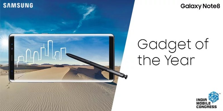India Mobile Congress 2017: 'Gadget of the Year' Award goes to Samsung Galaxy Note 8