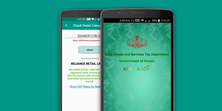 Kerala GST App Launched By GST Department Gov Of Kerala