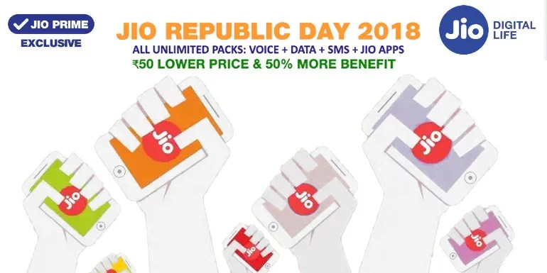 Reliance Jio launches Republic Day 2018 Plans, Rs 98 Jio Plan valid