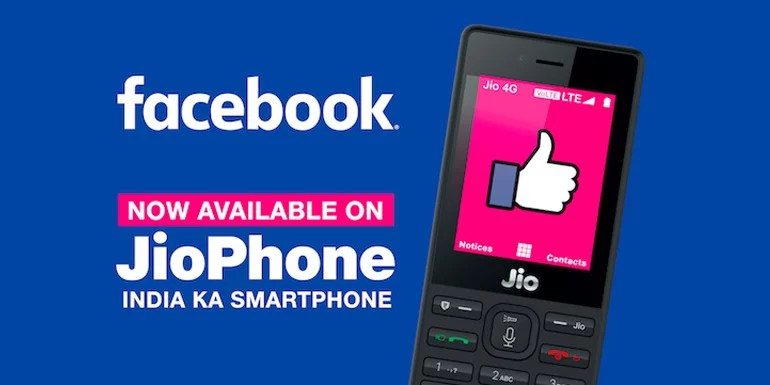 Facebook brings its Mobile app to Reliance JioPhone
