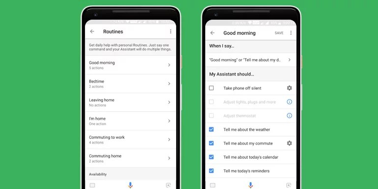Google assistant routines commands and tips
