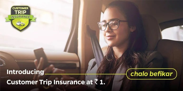 Ola adds Customer Trip Insurance starting at Rs 1 for Riders
