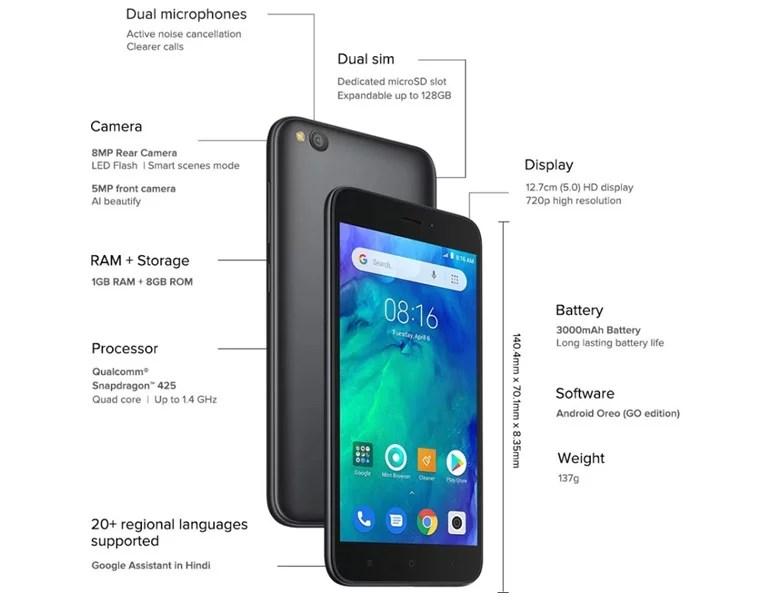 Redmi Go India specifications