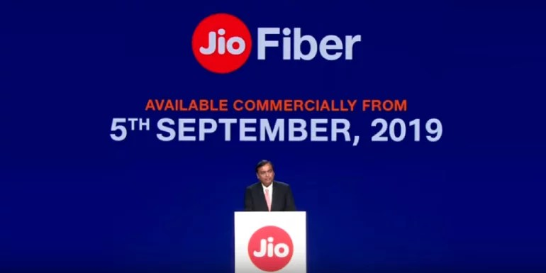 Commercial launch of Jio GigaFiber or the Jio Fiber