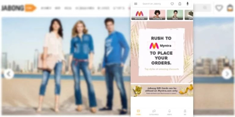 Flipkart shut downs Fashion Portal Jabong